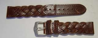 SWISS ARMY/WENGER Brown Weave Strap in Box Free Ship