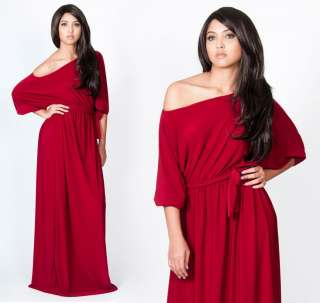NEW One Shoulder Cocktail Red Long Maxi Dress S M L
