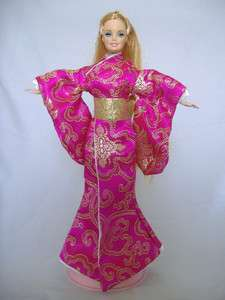 KIMONO STYLE BARBIE DOLL DRESS (PINK)