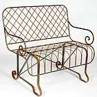 Front Porch Bench, Metal Several colors   great bench in the garden