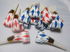 New Years Birthday Party Favor Blow Horn Noise Makers Lot of 12