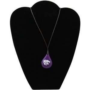 Dayna U Kansas State Wildcats Tear Drop Wood Necklace