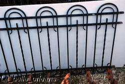 FRENCH ART DECO WROUGHT IRON GATE AND FENCING. WOW!!!