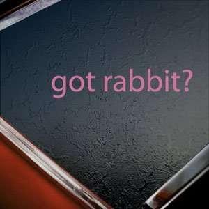 Got Rabbit? Pink Decal Beagle Vw Car Truck Window Pink