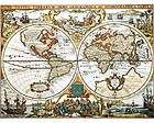 World Map by Peter Schenk the Elder 1645   1715 Very Big Print