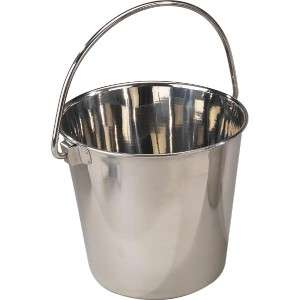 ProSelect Stainless Steel Contour Handled Dog Pail 9 Qt