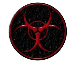BIOHAZARD Sticker Warning Red Bio Hazard Caution Vinyl Decal B
