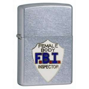 Zippo Custom Lighter   Novelty Funny Humor FBI Female Body