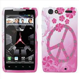Pink Black Zebra Hard Case Cover for Verizon Motorola DROID RAZR XT912