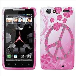 Pink Black Zebra Hard Case Cover for Verizon Motorola DROID RAZR XT912