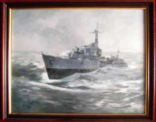 Oil Painting   Richard Joicey RSMA   Destroyer  Give Fine Art