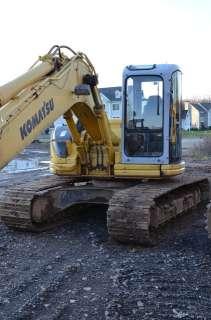 Komatsu PC128US 1 Excavator EROPS, heat, A/C, Dozer Blade