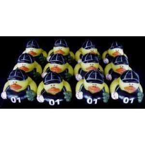 & White BASEBALL Rubber Ducky Duck Duckie Party Favors Toys & Games