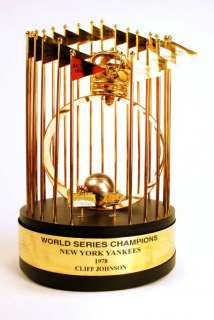 1978 Cliff Johnson NY Yankees World Series Trophy RARE Product Image