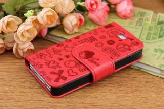 Cute Lovely Magic Girl Flip Leather Case Skin Cover Pouch for Apple