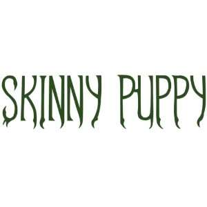 Skinny Puppy   Green Logo Cut Out Decal Automotive