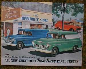 1955 Chevrolet Panel Trucks sales Brochure 55