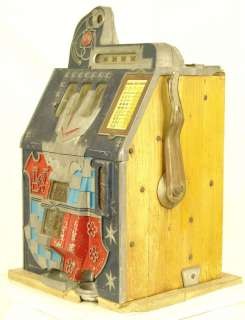1936 MILLS NOVELTY CASTLE FRONT 10c SLOT MACHINE WITH GOLD AWARD