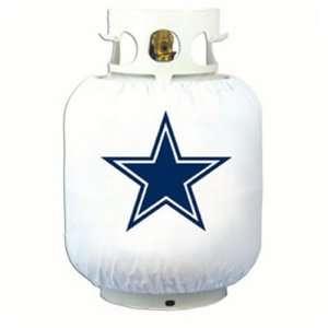 NFL Dallas Cowboys Outdoor White Propane Grill Tank Cover