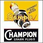 Champion Spark Plugs Gas Gasoline Oil 3x3 Sticker Decals Vinyl Signs