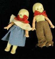 Vintage Celluloid Girl Boy Baby Doll Irwin USA Set 2