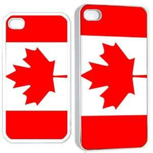 canada flag iPhone Hard 4s Case White Cell Phones