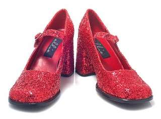 DOROTHY RUBY SLIPPERS Red Glitter Mary Jane Shoes