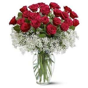 Two Dozen Deluxe Red Roses:  Grocery & Gourmet Food