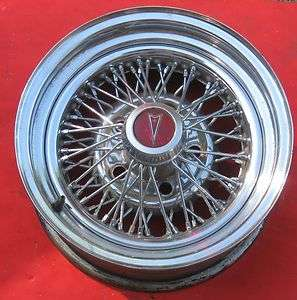 Pontiac chrome wire wheel