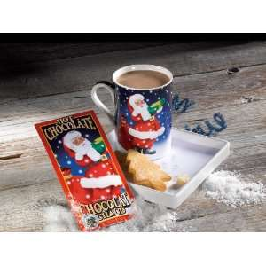 Gourmet du Village Santa Hot Chocolate Mug & Plate Gift Set