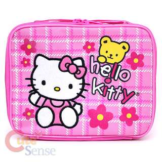 Kitty Large School Roller Backpack Lunch Bag Pink Teddy Bear 5