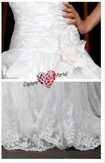 line Off shoulder Chapel Train Satin Wedding Dress