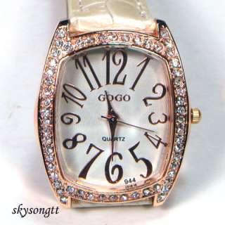 Swarovski Crystal White Strap Gold Bracelet Watch W104W