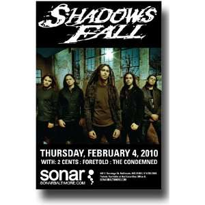 Shadows Fall Poster   Concert Flyer   Retribution Tour R