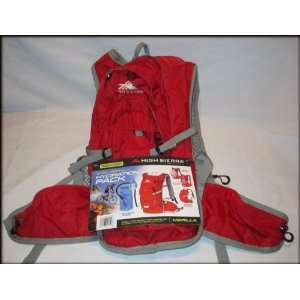 High Sierra Multi Sport Hydration Pack   72oz (2L)   Red