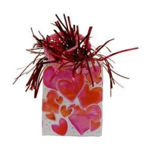 Mini Gift Bag With Hearts   Balloon weight Case Pack 6