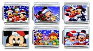 DISNEY CHRISTMAS WITH MICKEY MOUSE AND FRIENDS, 6 PIECE CHARM SET, 9MM