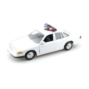 1998 Ford Crown Victoria Police Car Blank 1/24 White Toys & Games