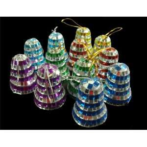 Club Pack of 288 Mirrored Mosaic Disco Bell Christmas
