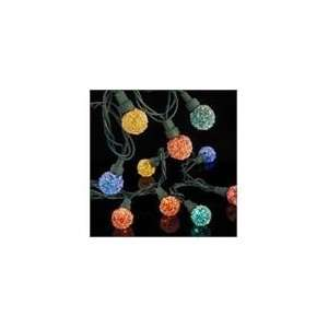 Set of 35 LED Multi Color Sugared Candy G23 Berry Christmas