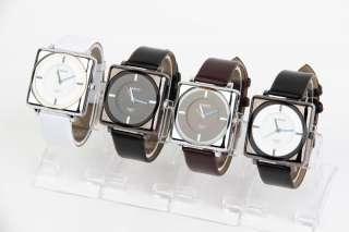 Lot Of 4PCS Elegant Watch Square Face Men Ladies Women Classic Unisex