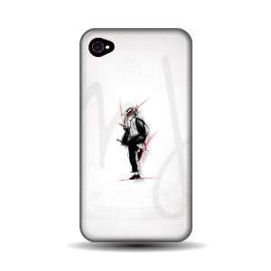 Michael Jackson Sketch iPhone 4 Case: Cell Phones