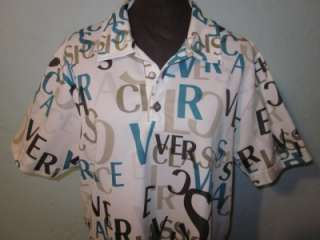 VTG Versace Logo Classic Mens Shirt Sz Large RARE