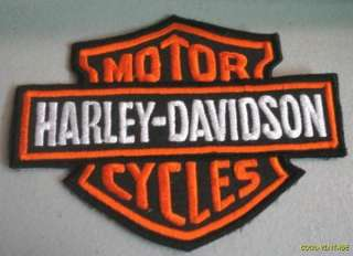 STOCK sew Harley Davidson Bar & Shield Logo LARGE 5 X 4 Patch