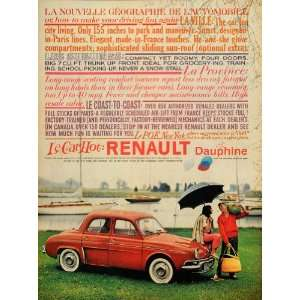 1959 Ad Renault Dauphine La Ville Les Suburbs Province