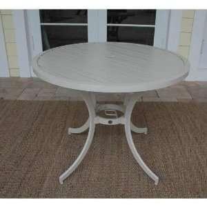 Hospitality Rattan 923 3162 WHT Outdoor Slatted Aluminum