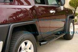 07 10 Toyota FJ Cruiser BLACK Side Steps Nerf Bars USA