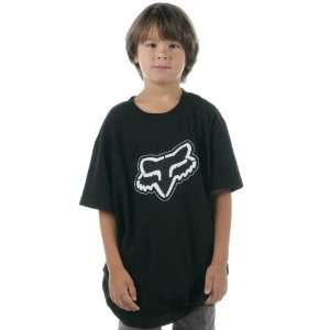FOX Racing 47011 Boys CARBON Head Logo Short Sleeve Tee T Shirt Black