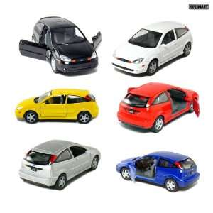 Set of 6 5 Ford SVT Focus 134 Scale (Black/Blue/Red