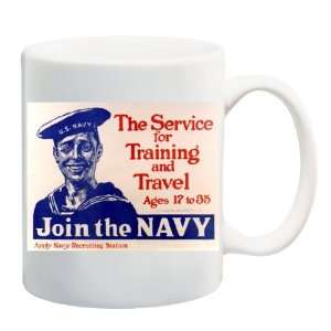 JOIN THE NAVY POSTER Mug Coffee Cup 11 oz